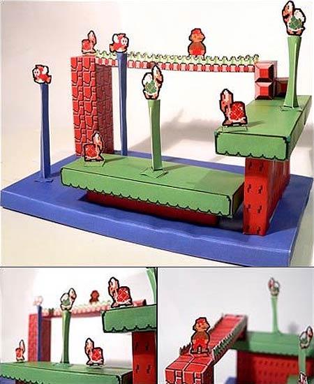 Super Mario Bros. Papercraft