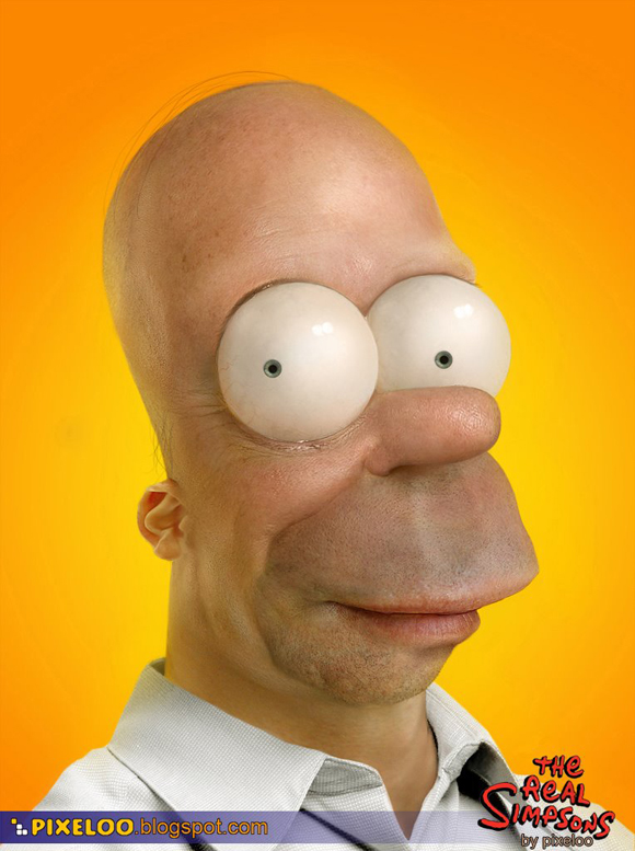 Homer Simpson in real