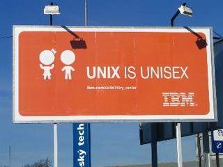 UNIX is unisex