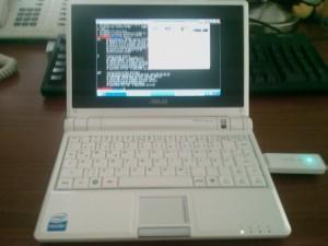 Eee PC mit web'n walk Stick III