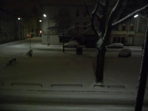 eingeschneiter Südwall in Krefeld