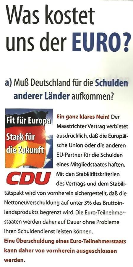 Muss Deutschland für die Schulden anderer Länder aufkommen?